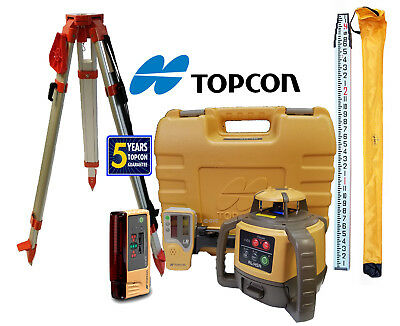 Topcon RL-H5A DB Laser Level Package PLUS LS-B10, 13 FT Inches Rod & Tripod