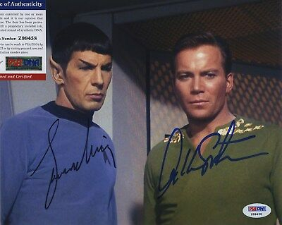 William Shatner & Leonard Nimoy Star Trek Signed  Psa/Dna Photo Z99458
