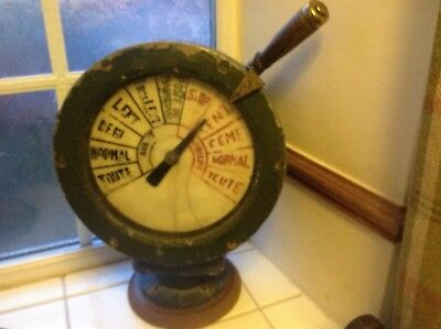 Antique Ships Engine Order Telegraph Device French Display