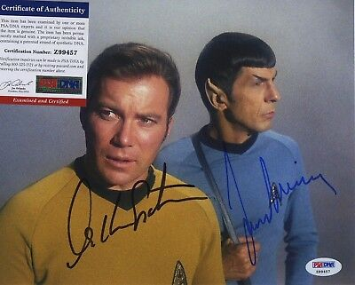 William Shatner & Leonard Nimoy Star Trek Signed  Psa/Dna Photo Z99457