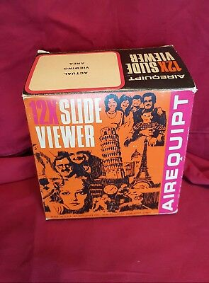 Vintage Airequipt 300 Slide Viewer Box Manual ~