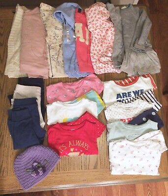 Lot Childrens Clothing Girls Sizes 2T 2 year winter carters burt's bees baby gap