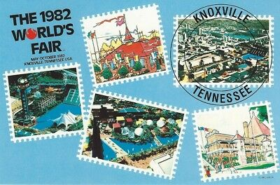 """Stamps"" 1982 World's Fair Postcard"