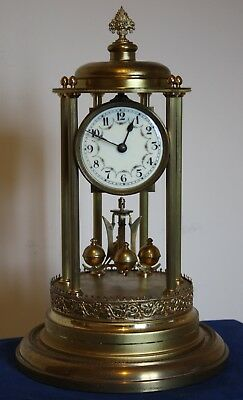 JUF 400 Day Anniversary Torsion Clock.  Louvre / Bandstand type Case.