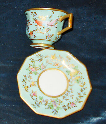 19thC SEVRES PORCELAIN CUP & SAUCER  FRANCE FRENCH