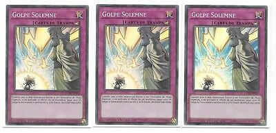 YuGiOh 3 SOLEMN STRIKE COTD-SPSE2 Spanish ENSE2 Super Rare Holo x3 Limited Ed
