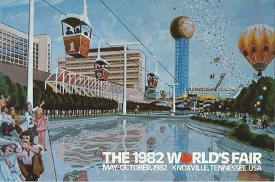 """Waters of the World Preview"" 1982 World's Fair Postcard"