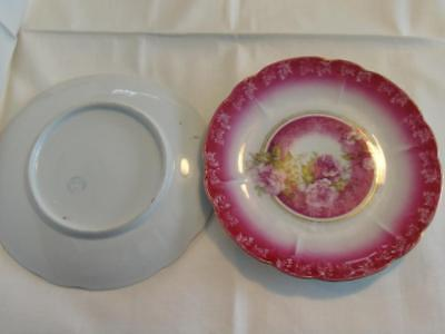 "Three Crown China Germany 8"" Roses Plates (2)"