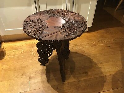 Mahogany Occasional Carved Table