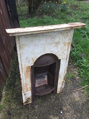 1930s Cast Iron Bedroom Fireplace