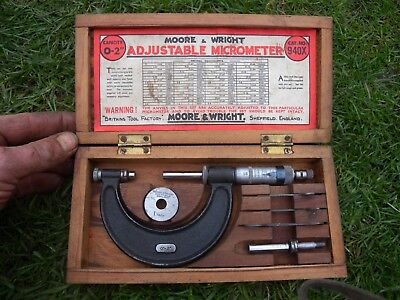 """0 -2"""" moor and wright  micrometer"""