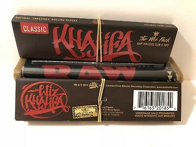 Wiz Khalifa Raw Connoisseur King Size Slim Rolling Papers With Tips +Roller (2)