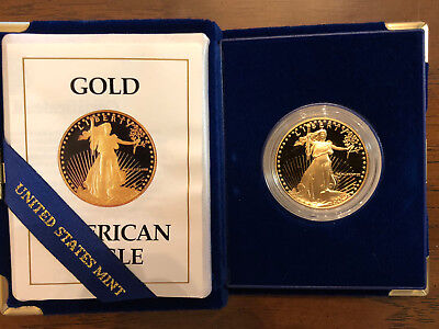 1988 $50 American Eagle 1 Oz Gold Proof Coin In Original US Mint Box with COA