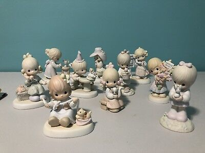 Precious Moments Lot Of 10 Figurines Pre-owned
