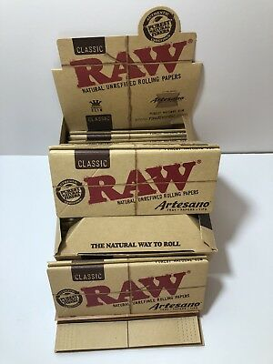 Raw Rolling Papers Classic Artesano King Size Slim 32 Leaves Unflavored full box