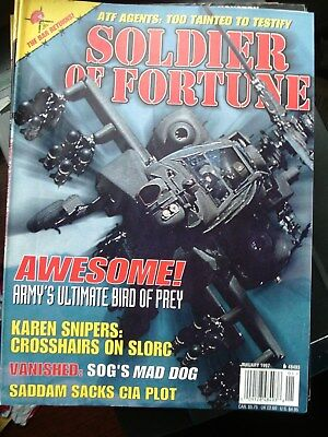 SOLDIER OF FORTUNE magazine 1997 january POST FREE in UK