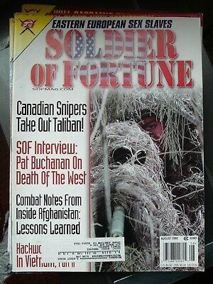 SOLDIER OF FORTUNE magazine 2002 august POST FREE in UK