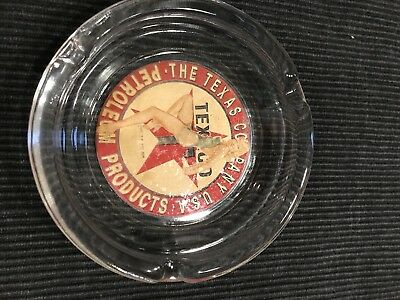 Vintage Texaco Glass Ashtray Varga Pinup Girl