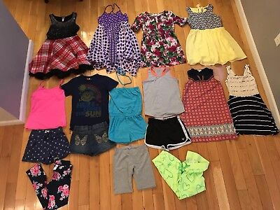 Lot of 16 Girls Clothing Items Size 10, 12, or 10/12 Justice,Old Navy, Gymboree