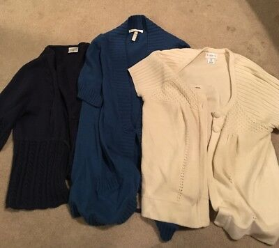 Maternity Sweater M Medium Lot Old Navy Motherhood Spring Cardigan Casual Work