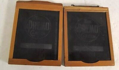 """Lot of 2 (TWO) Vintage 4x5 Wood Plate Film Holder marked """"The Premo Camera """""""