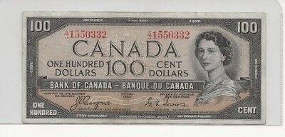 1954 Bank of Canada $100 Devils Face Coyne-Towers No Reserve