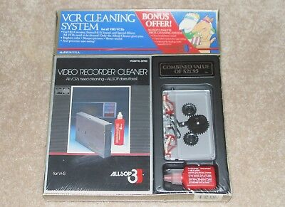 NEW/SEALED Allsop 3 VCR Cleaning System For All VHS VCRs & Cassette Cleaning