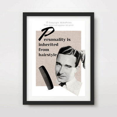 MENS BARBER SHOP HAIRDRESSER ART PRINT POSTER QUOTE Wall Decor Hairstyle Advice