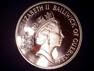 1986 2 pence Guernsey deep cameo proof bronze coin KM#41