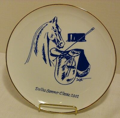 Dallas Summer Classic Horse Show 2001 Collector Plate by Equine Artist DeLott