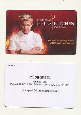 """GORDON RAMSAY""--HELL'S KITCHEN-CAESARS PALACE--Las Vegas, NV-Room Keys"
