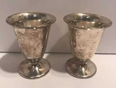 Wallace Silversmiths Melford Silver Plated Tulip M225 Liquor Goblets EPWM