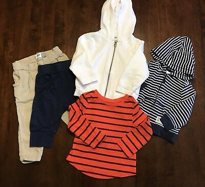 Lot Of Five Baby Boys Clothing Items: 12 And 18-24 Months (Old Navy And Carters)