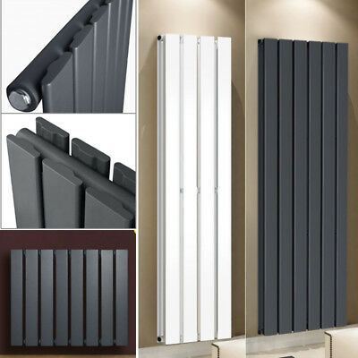Vertical Designer Flat Panel Central Heating Radiator Home Rads White/Anthracite