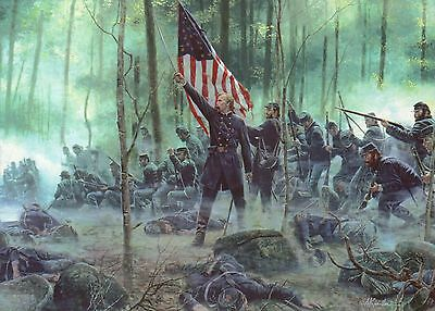 Hero of Little Round Top, Battle of Gettysburg PA -- Military Civil War Postcard