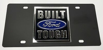 License Plate For Ford Truck (Black W/ Built Ford Tough Logo)