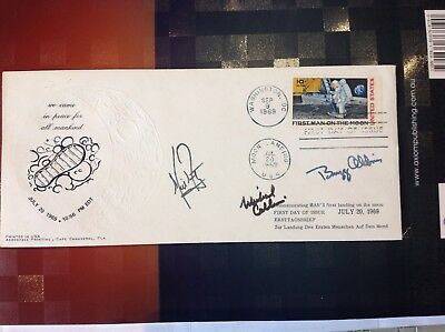 Signed Landing On The Moon Fdc