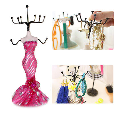 Hot Resin Lady Mannequin Jewelry Bracelet Earring Display Stand Rack Room Decor