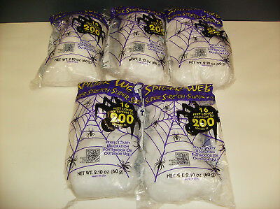 Spider Webs Lot Of 5 Packages Halloween Decorations