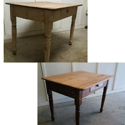 Antique hand crafted farmhouse table. 1800s.