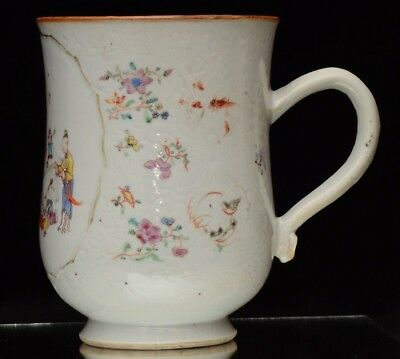 A good quality antique Chinese porcelain export mug (18th/19th. century)