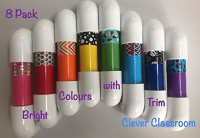 Set of 8 Bright/Neon coloured Whisper Phones - great for reading and writing