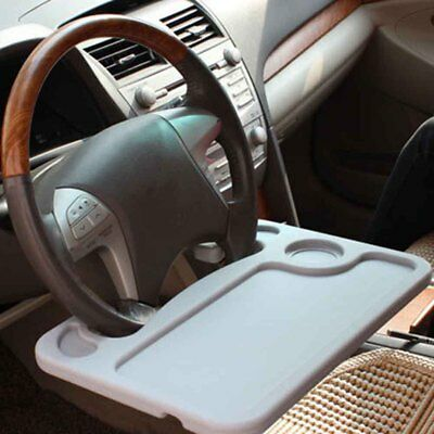 Portable Car Tray Laptop Table Desk Cup Holder Stand Mobile Auto with Drawer