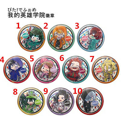 T822 Anime Boku no Hero Academia Izuku badges Pins Schoolbag Backpack Decorate