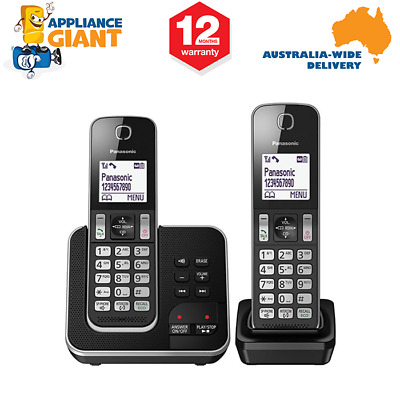 Panasonic KX-TGD322ALB Twin Cordless Phone System with Answering Machine
