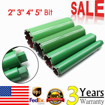2''-5'' 4pcs Wet Diamond Core Drill Bit Combo for Concrete -Premium Green Series