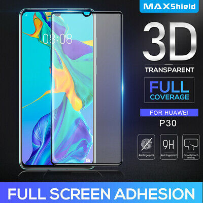 Huawei P20 P20 Pro Screen Protector, Maxshield 3D FullCoverage Tempered Glass