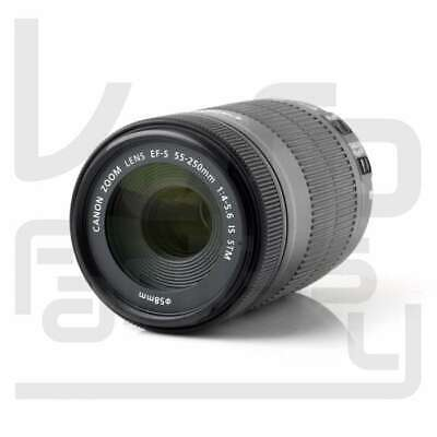 Genuino Canon EF-S 55-250mm f/4-5.6 IS STM Telephoto Zoom Lens (White Box)