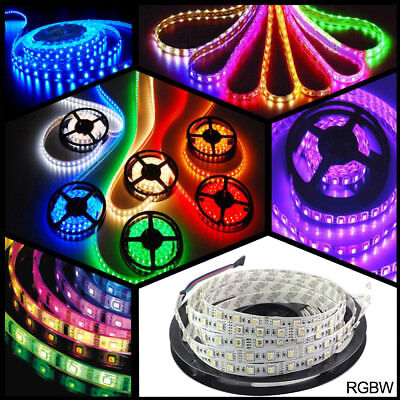 SMD5050 12V/24V RGB RGBW(RGB+Warmweiß) 4 in 1 LED Streifen Leiste Stripe Strips
