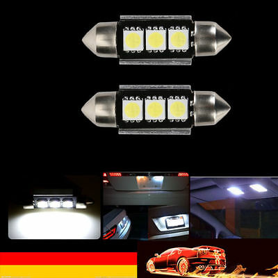 2x Canbus 39mm 5050 3SMD LED   Weiß  Innenraumbeleuchtung Leuchte